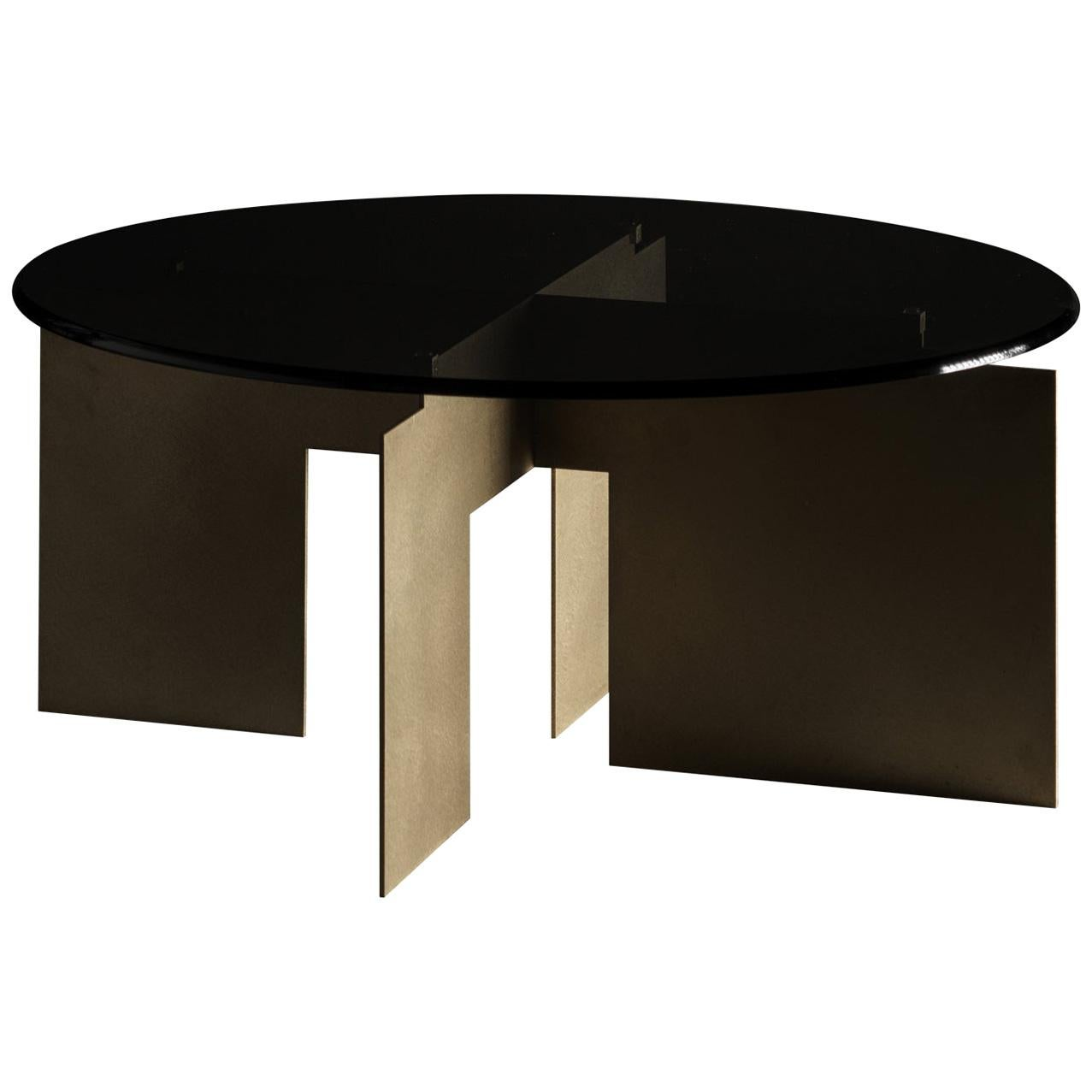 Roy Brass Coffee Table by Filippo Montaina