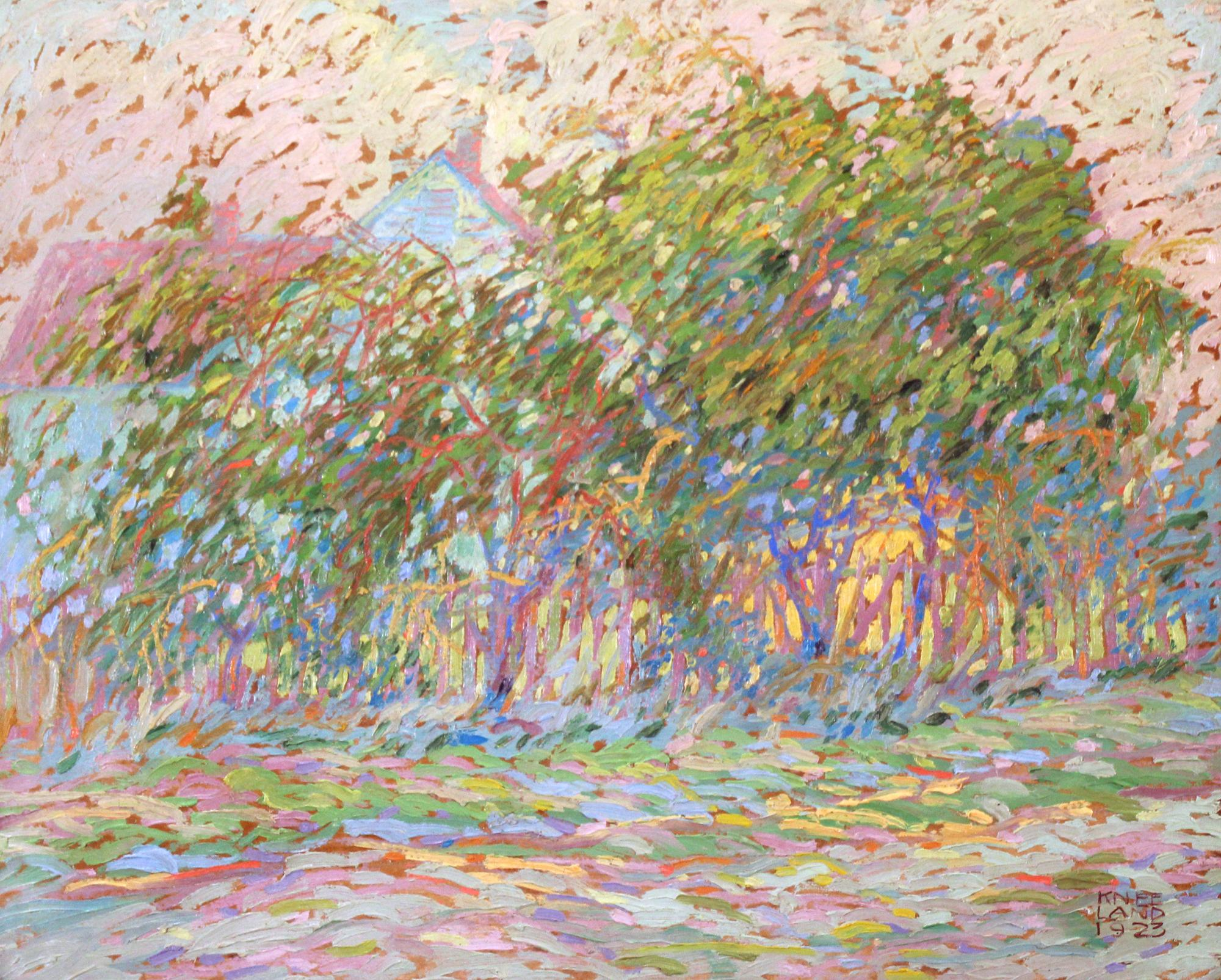 Bucks County Cottage, Pennsylvania Impressionist Landscape, Signed and Dated