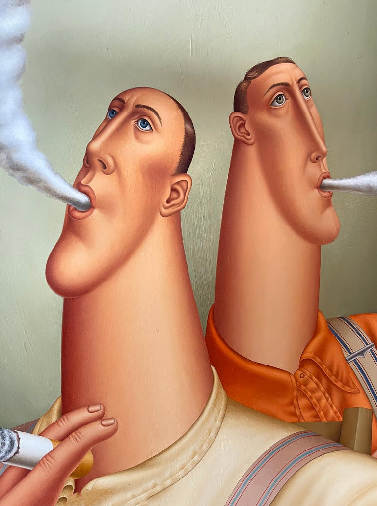 Three Smokers, Roy Carruthers For Sale 2