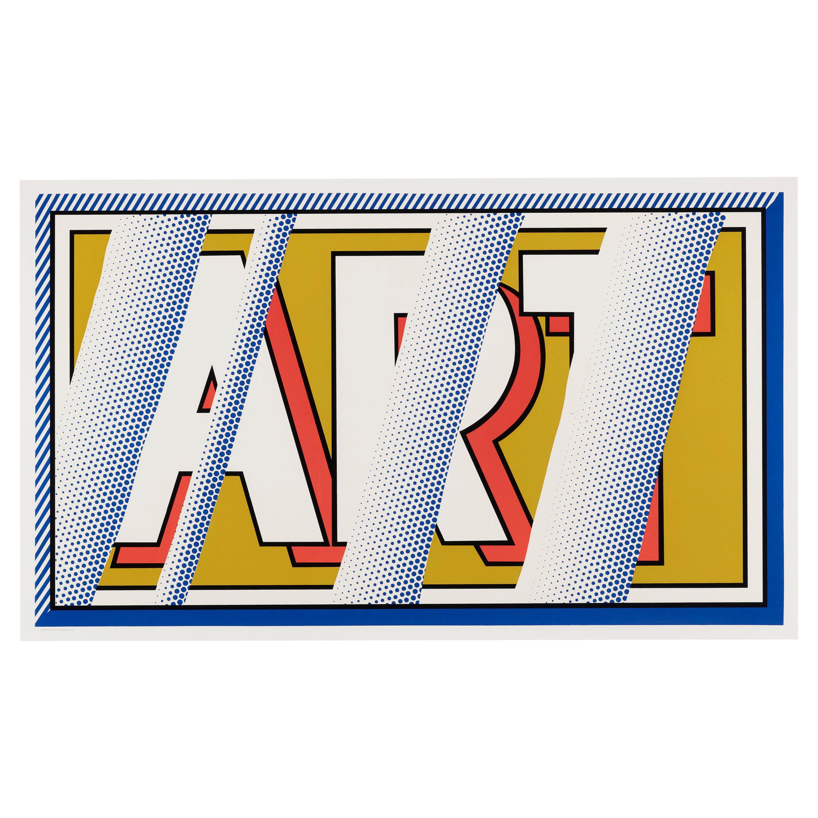 Roy Lichtenstein 1988 Handsigned Screenprint Art in Colors, Edition of 150