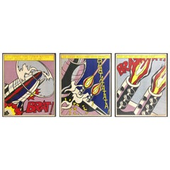 Roy Lichtenstein As I Opened Fire Set of Three Lithographs