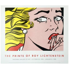 Roy Lichtenstein 'Crying Girl' Rare Original 1994 Poster Print on Wove Paper