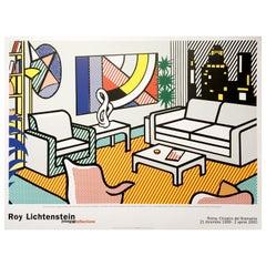 Roy Lichtenstein 'Interior with Skyline' Rare Original 1999 Poster Print