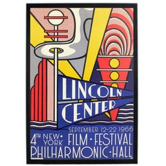 Roy Lichtenstein Lincoln Center Film Festival Color Lithograph