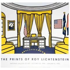 Roy Lichtenstein 'Oval Office' Rare Original 1994 Poster Print on Wove Paper