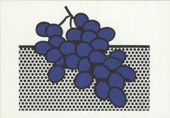 1972 Roy Lichtenstein 'Blue Grapes' Pop Art Lithograph