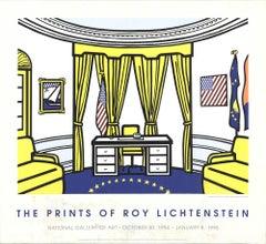 1997 After Roy Lichtenstein 'The Oval Office' Pop Art Yellow,Blue,White,Red USA