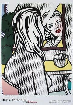 2000 Roy Lichtenstein 'Nude at Vanity' Pop Art White,Yellow,Green Italy Offset