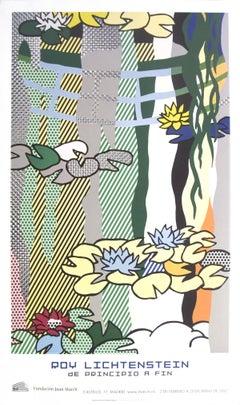 2007 After Roy Lichtenstein 'Water Lilies with Japanese Bridge' Pop Art