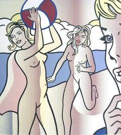 2007 Roy Lichtenstein 'Nudes with Beach Ball' Pop Art Multicolor Spain Offset