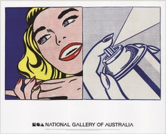 2013 After Roy Lichtenstein 'Girl and Spray Can' Pop Art Multicolor,Red,Blue