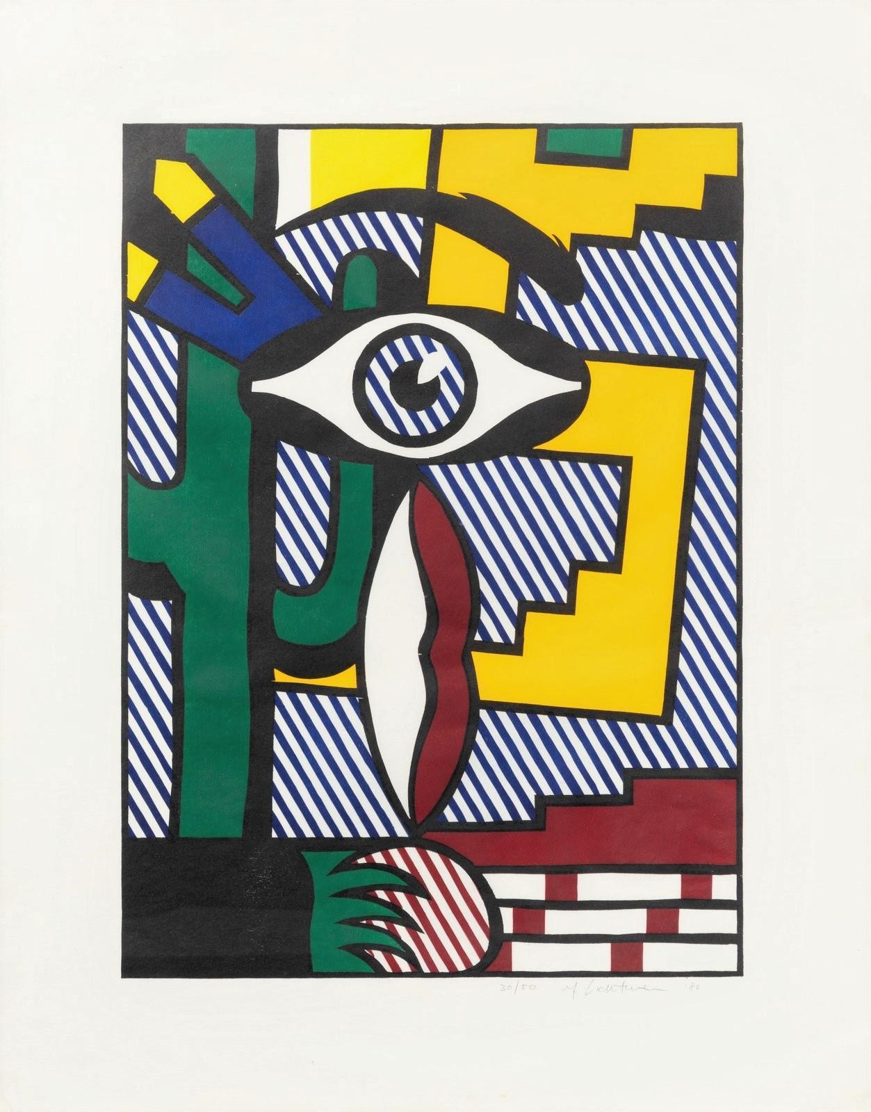 American Indian Theme III, Roy Lichtenstein