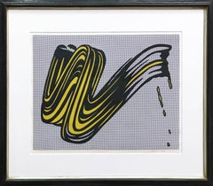 Brushstroke, Signed and Numbered Screenprint, American Pop Art, 20th Century