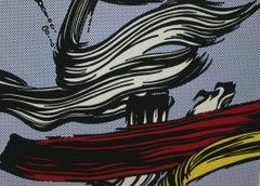 """""""Brushstrokes"""" Roy Lichtenstein Limited Edition Print"""