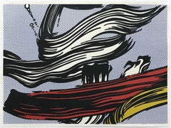 Brushstrokes, Signed Silkscreen, Pop Art, American Artist, 20th Century