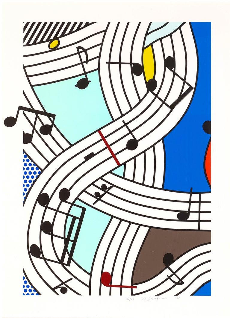 Roy Lichtenstein Figurative Print - Composition I