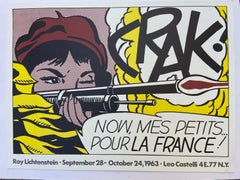 Crak! - Roy Lichtenstein Exhibition Poster