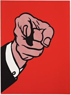 Finger Pointing -- Screen Print, Human Hand, Pop Art by Roy Lichtenstein