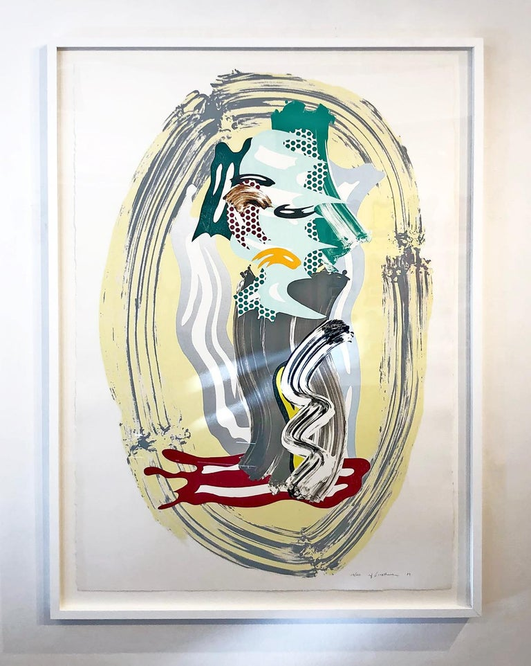 Green Face, from Brushstroke Figures Series  - Print by Roy Lichtenstein