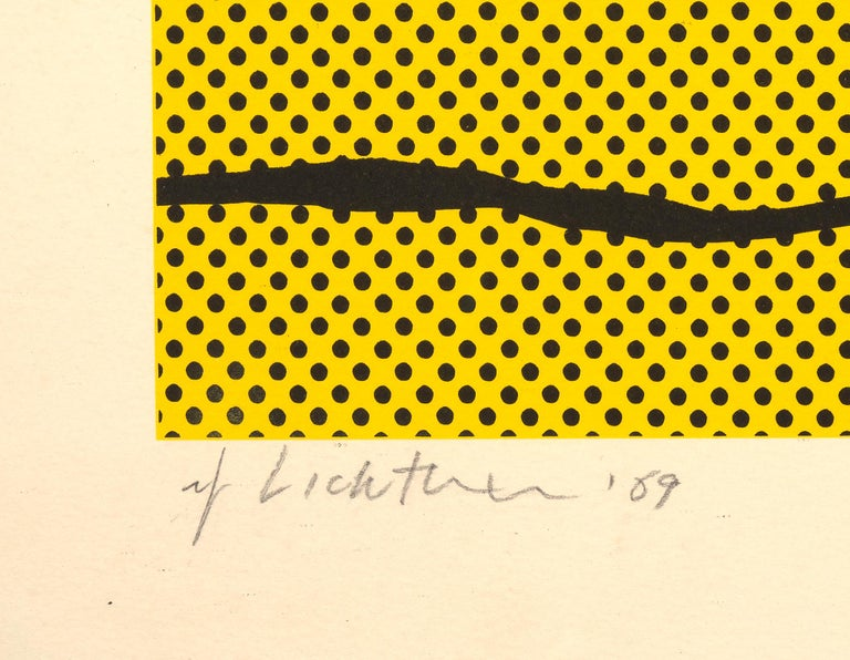 Haystack - Roy Lichtenstein - Pop art  - Orange Figurative Print by Roy Lichtenstein