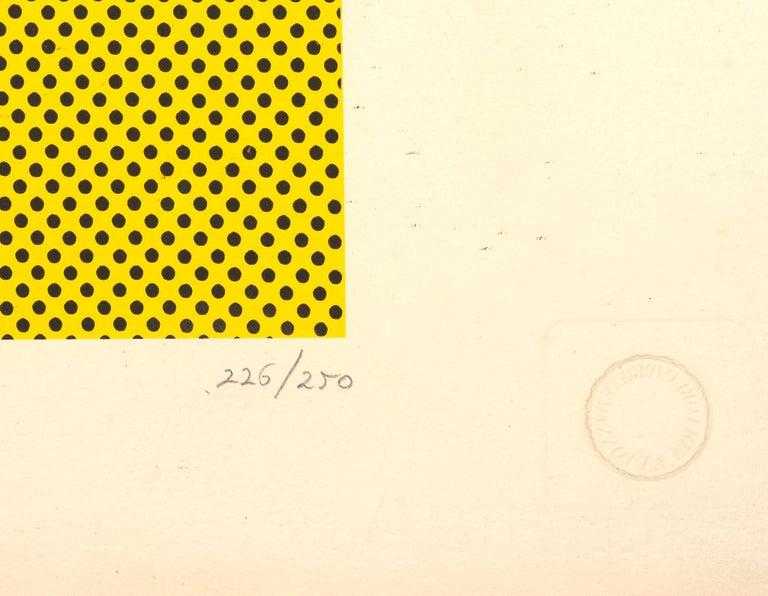 Haystack - Roy Lichtenstein - Pop art - Claude Monet  Roy Lichtenstein  Haystack (1969) Screenprint in colors on C.M. Fabriano - 100/100 Cotone paper Published by Gabriele Mazzotta Editore, Milan, with their blindstamp H 48,3 x W 66cm or 19 x 26