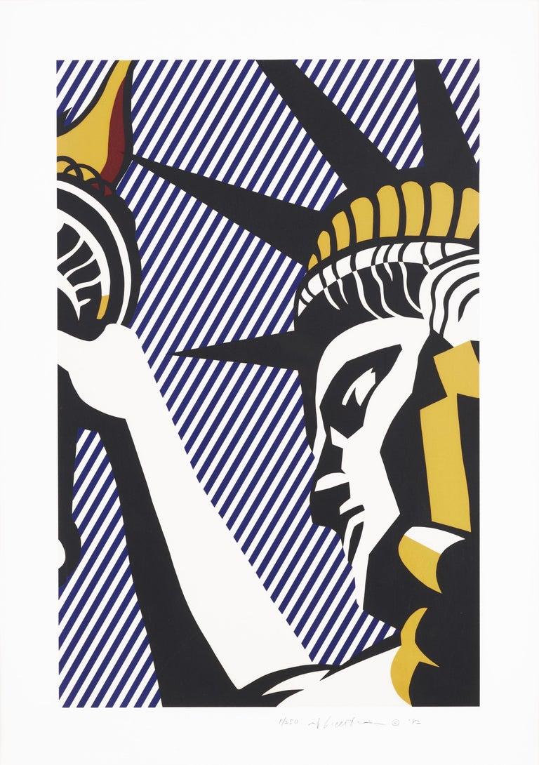Roy Lichtenstein Still-Life Print - I Love Liberty