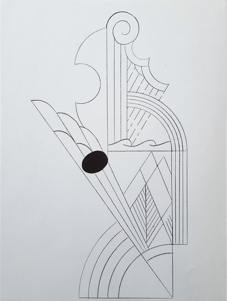 Roy Lichtenstein Abstract Print - Illustration for 'Romanze, or The Music Students' (I) & (II)