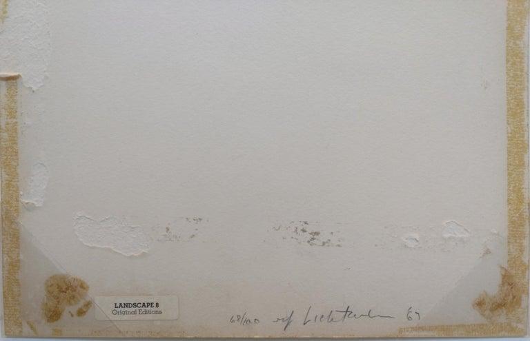 LANDSCAPE 8 - Black Abstract Print by Roy Lichtenstein