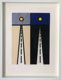 Lichtenstein, Auto Poésie: en Cavale de Bloomingto, from The New Fall of America