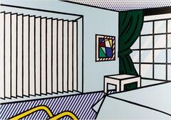 Lichtenstein, Bedroom, from Interior Series, woodcut and screenprint, 1990