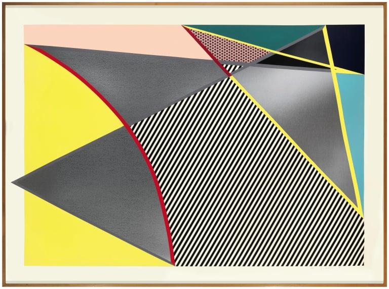 Roy Lichtenstein Abstract Print - Lichtenstein, Imperfect print, from Imperfect Prints Series, 1988