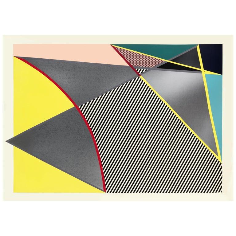 Lichtenstein, Imperfect print, from Imperfect Prints Series, 1988 - Beige Abstract Print by Roy Lichtenstein