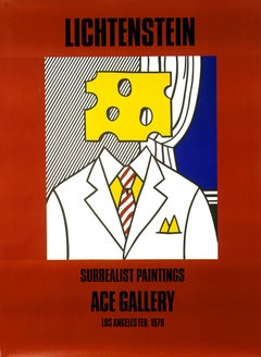 """Lichtenstein: Surrealist Paintings (Portrait, 1977)"""