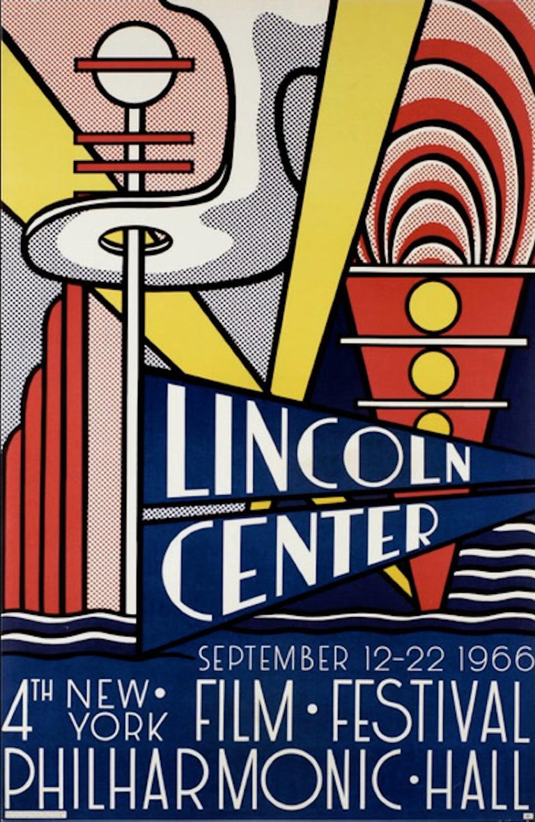Roy Lichtenstein Print - Lincoln Center - Vintage Offset and Lithograph - 1966