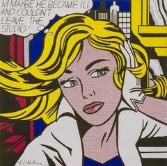 M-Maybe -  originally signed pop art screenprint work by Roy Lichtenstein