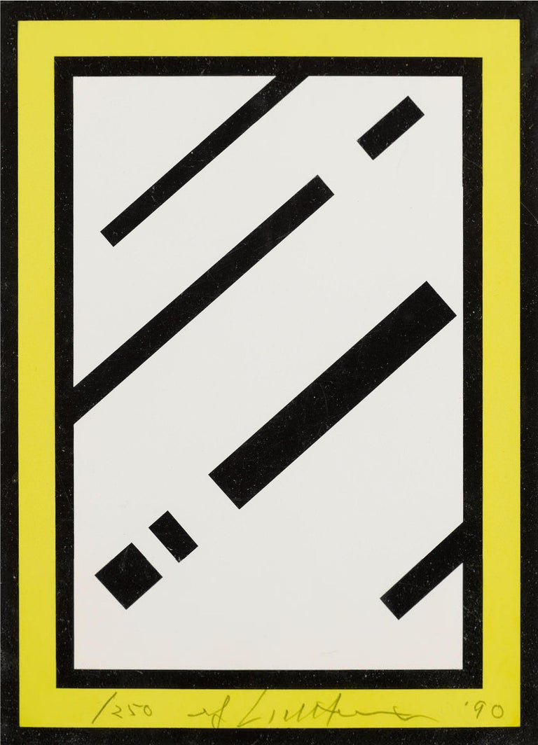 ROY LICHTENSTEIN Mirror, 1990  Screenprint in colours, on white 4-ply museum board Signed, dated and numbered from the edition of 250 in pencil (there were also 50 artist's proofs) Co-published by the artist and Gemini G.E.L., Los Angeles (with