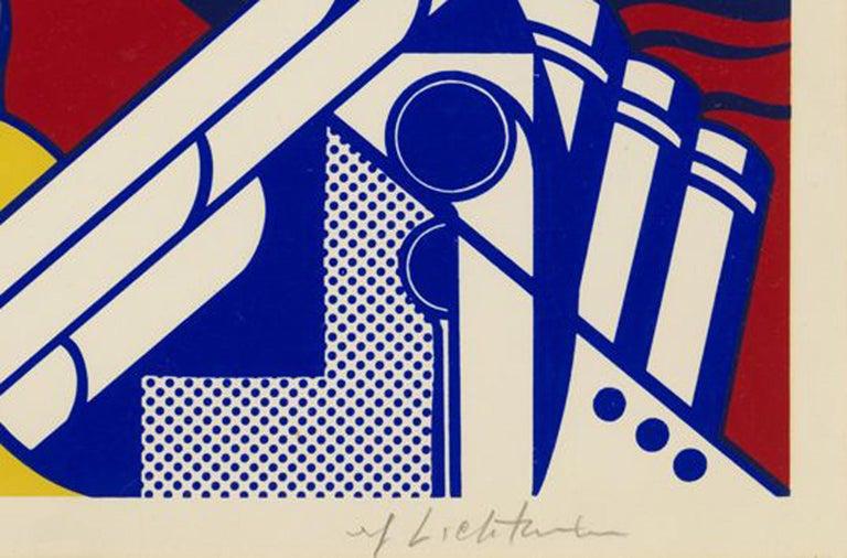 Modern Art Poster - Beige Print by Roy Lichtenstein