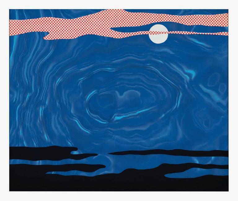 Roy Lichtenstein Abstract Print - Moonscape