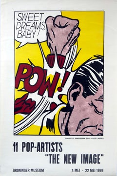 Original Vintage Poster The New Image Pop Art Exhibition Sweet Dreams Baby Pow!