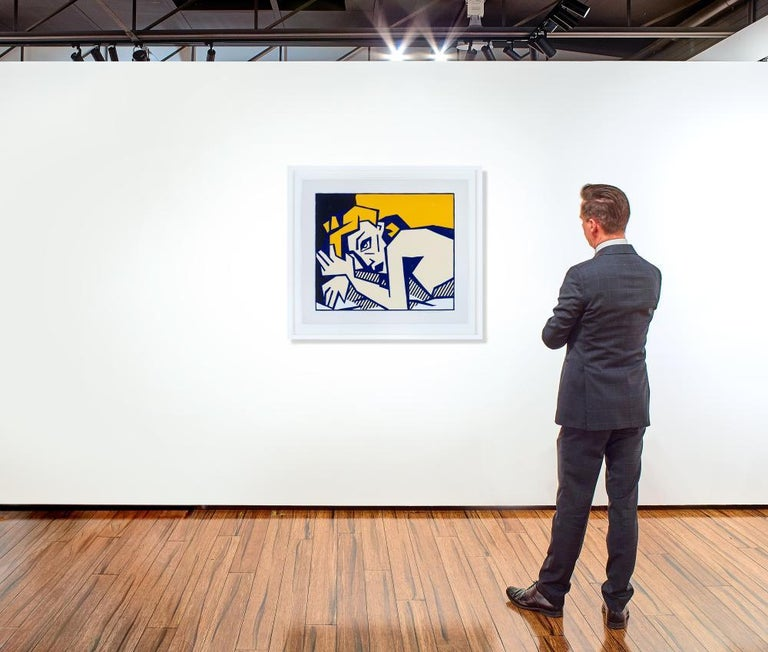 Reclining Nude, from Expressionist Woodcut Series 1980 - Contemporary Print by Roy Lichtenstein