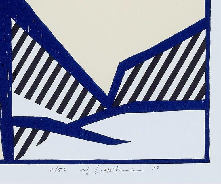 Reclining Nude, from Expressionist Woodcut Series 1980 - Beige Portrait Print by Roy Lichtenstein