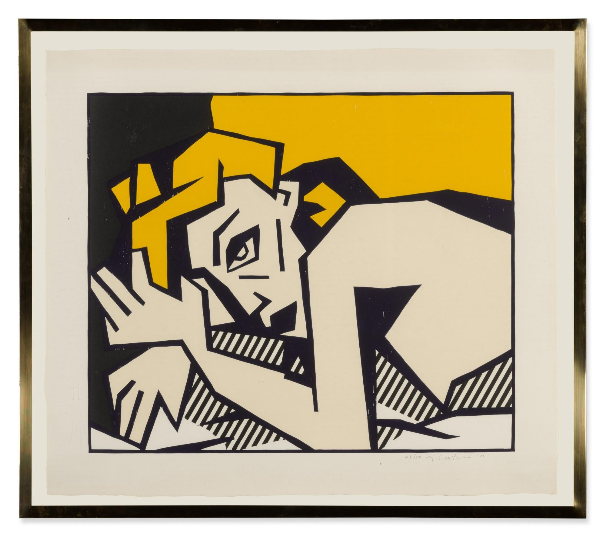 Reclining Nude, from Expressionist Woodcut Series 1980