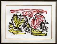 Red Apple and Yellow Apple, Woodcut by Roy Lichtenstein