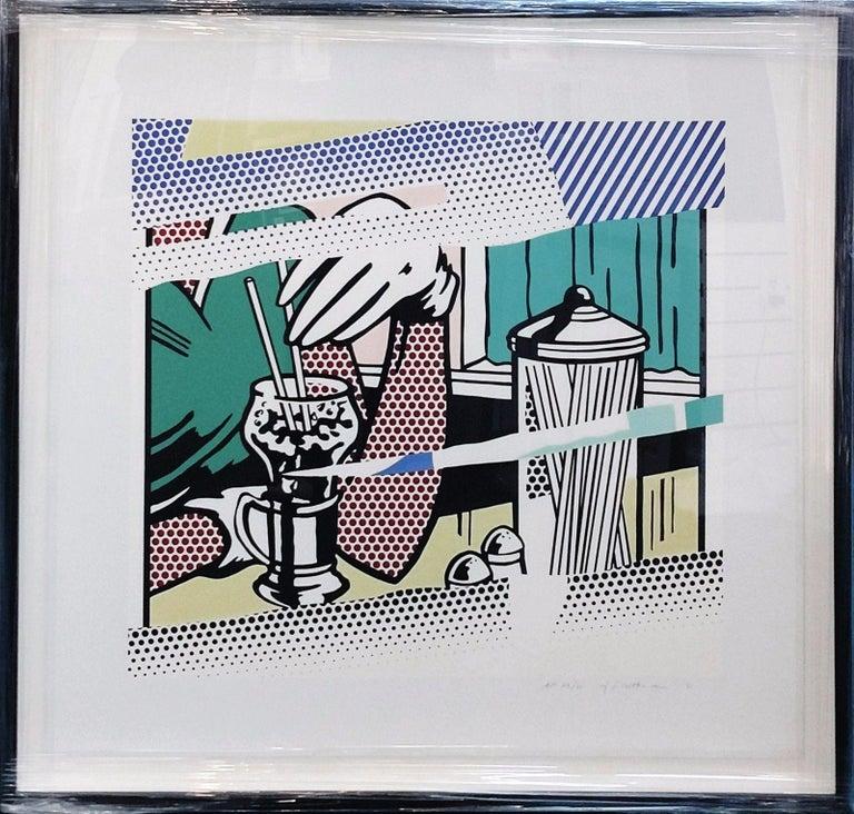 REFLECTIONS ON SODA FOUNTAIN - Print by Roy Lichtenstein