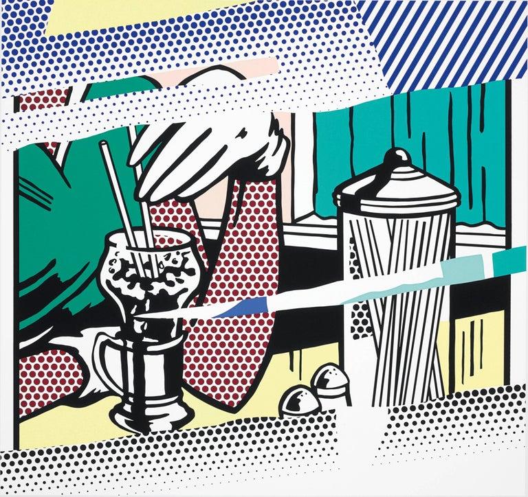 Roy Lichtenstein Figurative Print - REFLECTIONS ON SODA FOUNTAIN