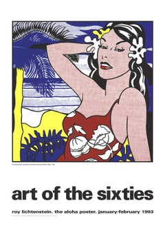 "Roy Lichtenstein-Aloha, from Art of the Sixties-55"" x 39""-Serigraph-1993-Pop Art"