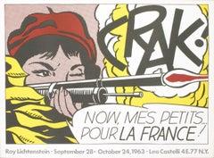 "Roy Lichtenstein-Crak!-21"" x 28.5""-Poster-1963-Pop Art-Multicolor"