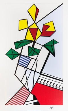 Roy Lichtenstein, Flowers, Screenprint, 1973