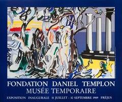 """Roy Lichtenstein-Forest Scene with Figurines-26.25"""" x 31.5""""-Poster-1989-Pop Art"""
