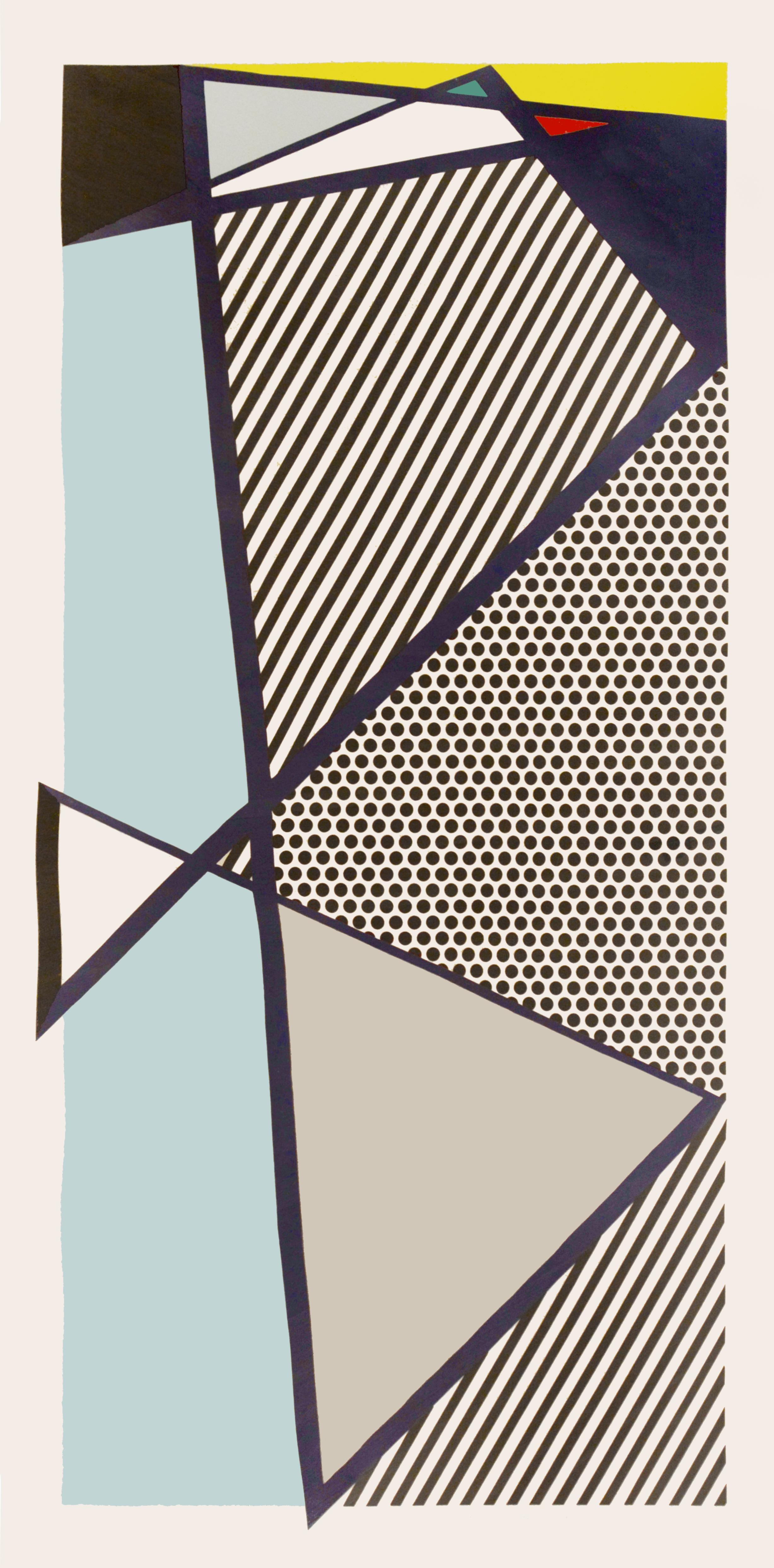 Roy Lichtenstein, Imperfect Print for B.A.M, woodcut, screenprint, 1987, signed